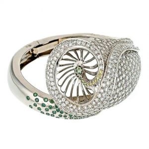 Calla Lily Bangle Bracelet