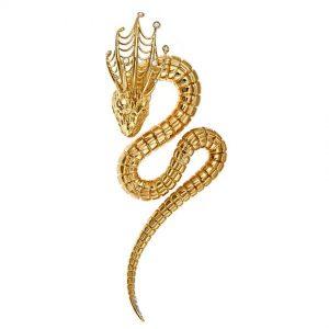 Sea Serpent Brooch