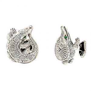 Curled Alligator Cufflinks
