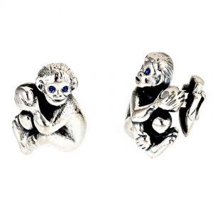 Seated Monkey Baby Cufflinks