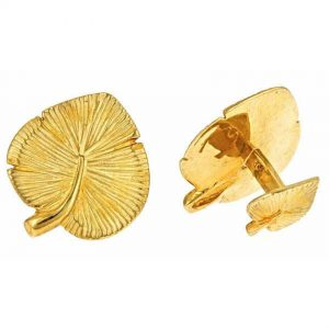 Water Lily Leaf Cufflinks