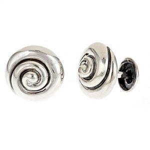 Whirlpool Cufflinks Silver