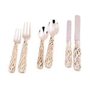 A One-Time Edition of Eighty Place Settings of Hand Made Flatware