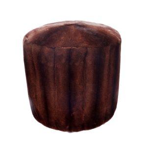 Brown Mink Poof