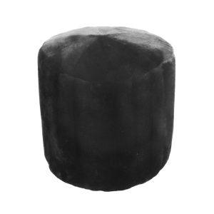 Black Mink Poof