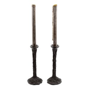 Tall Candlestick Holder With Sea Floor Motif