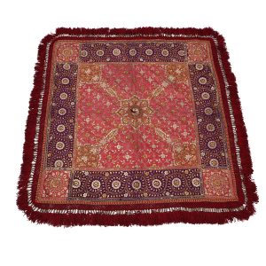 Square Red and Purple 'Chakla' With Red Trim.