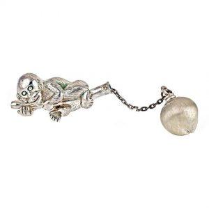 K Monkey Keychain