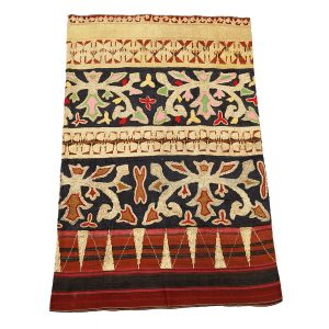 Woven Textile With Floral & Geometric Motif