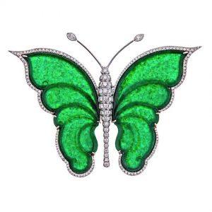 Jade Butterfly Brooch