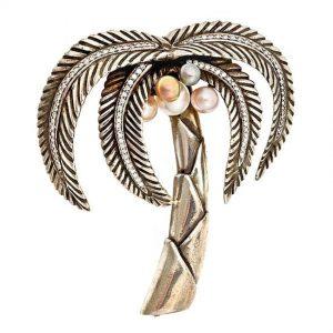 Moonlight Palm Brooch