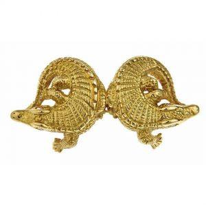 Two Alligators Pin/Pendant