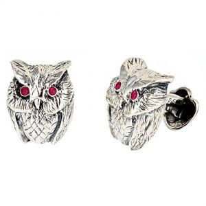 Owl Cufflinks Sapphire