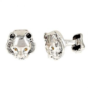 Tiger Head Cufflinks Silver