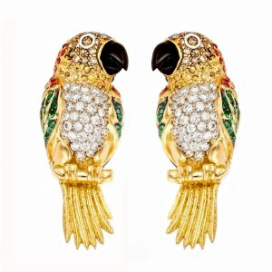 Caique Parrot Earrings