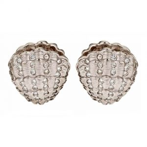 Clam Shell Earrings with Diamonds