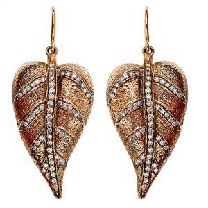 Miss Chenille's Moonlight Leaf Earrings