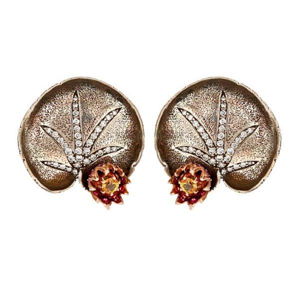Moonlight Lotus Earrings