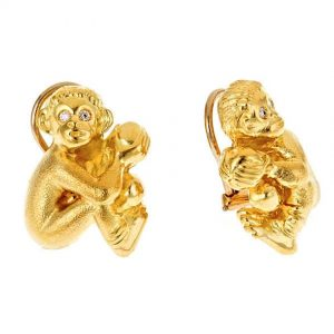 Monkey Baby Earrings