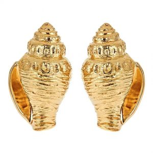 Whelk Shell Earrings