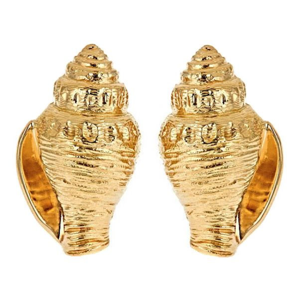 Whelk Shell Earrings