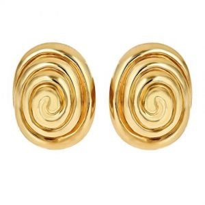 Whirlpool Cufflinks Gold