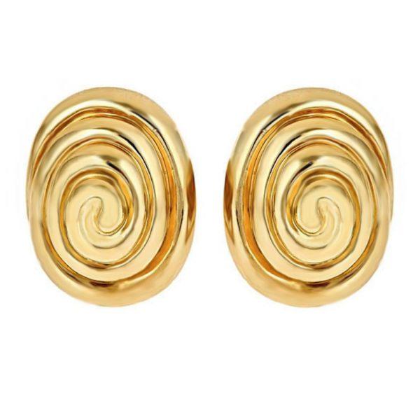 Whirlpool Cufflinks Gold