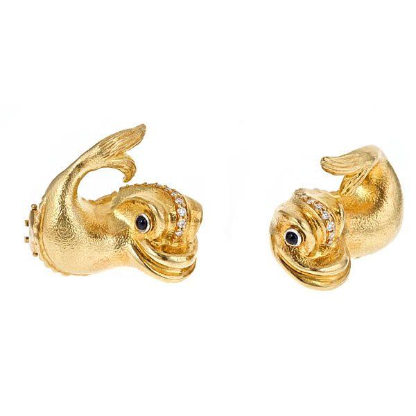 Renaissance Dolphin DIA Earrings