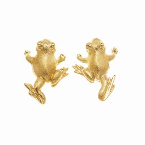 Frog Striding Earrings