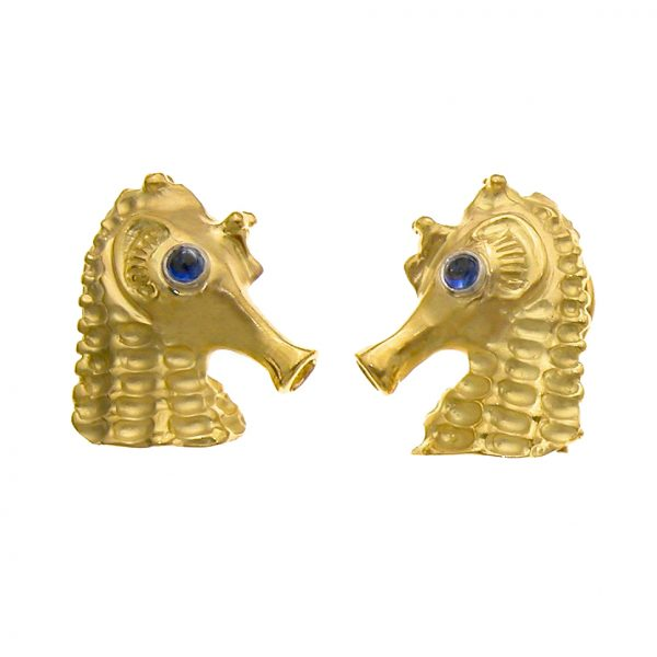 Seahorse Cufflinks Gold