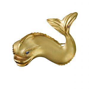 Renaissance Dolphin Brooch