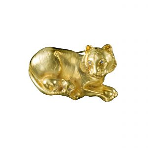 Tiger Mother and Cub Brooch