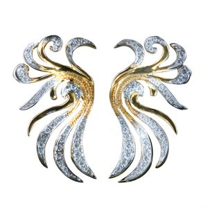 Phoenix Earrings with Diamonds