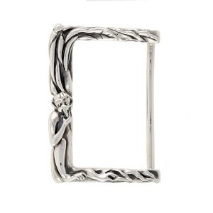 Monkey Reaching For Banana Buckle Silver