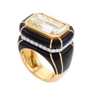 Midnight Art Deco Ring