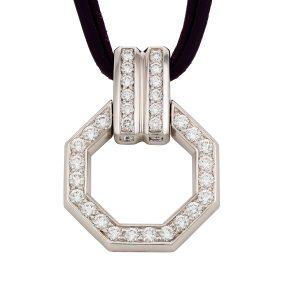 Octagonal Diamond Pendant