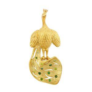 Peacock Brooch