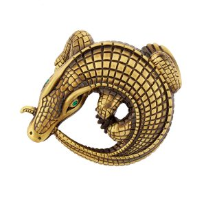 Curled Alligators Bronze