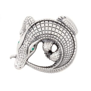 Curled Alligators Silver