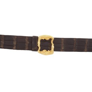 Two Alligators Buckle Gold