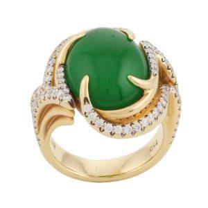 Gem Green Jade Ring